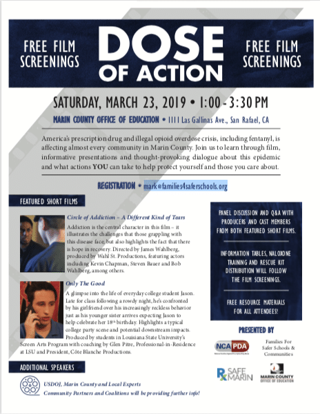 Free Film Screenings - Saturday March 23rd 2019 1:00pm-3:30pm